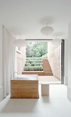 Home Interior Plants opEn baThroom / bAo abierTo Open Bathroom, Bathroom Interior, Half Bathrooms, Attic Bathroom, White Bathroom, Bathroom Inspiration, Interior Inspiration, Bathroom Ideas, Architecture Design