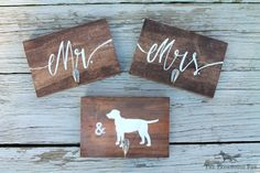 Mr. & Mrs. Key Ring Holder  Dog Lovers by FarmhouseFox on Etsy