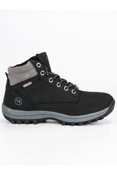 Pánske čierne topánky na zimu McKeylor Hiking Boots, Shoes, Fashion, Moda, Zapatos, Shoes Outlet, Fashion Styles, Shoe, Footwear