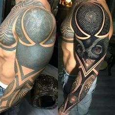 Which arm do you prefer! Give you comments. For see more of fitness life images visit us on our website ! White Over Black Tattoo, Black Tattoo Cover Up, Cover Up Tattoos, Tribal Sleeve Tattoos, Black Ink Tattoos, Tattoo Sleeve Designs, Life Tattoos, Body Art Tattoos, Tattoos For Guys