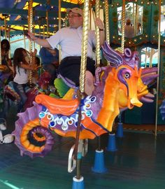 Carousel Animals | Andy Fox's: Carousel Animals - King Triton's Carousel, DCA