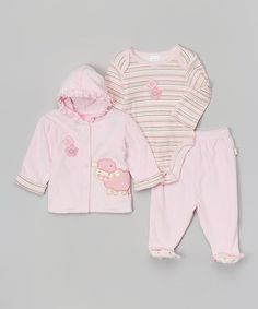 Look what I found on #zulily! Pink Little Lamb Hoodie Set by Duck Duck Goose #zulilyfinds