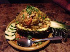 Pineapple Fried Rice- love Thai food!!! <3
