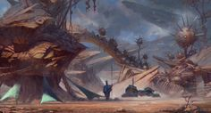 Artur Sadlos is a concept artist currently working in the video game industry on video game titles such as Halo Guardians and The Witcher Wild Hunt. Concept Art World, Landscape Concept, Science Fiction Art, Sci Fi Art, Conceptual Art, Art Portfolio, Art Pages, Game Art, Fantasy Art