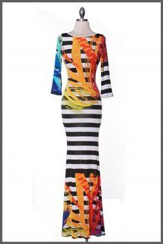 The Tressa Graphic Print Maxi Dress
