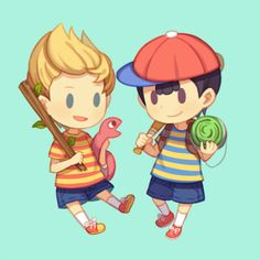 Lucas and Ness by usato21