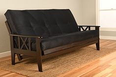 style and great price makes this futon set the best  assembly always takes longer than burlington queen size solid oak futon frame in cherry oak finish      rh   pinterest