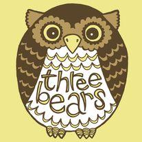 Three Bears Owl Sticker