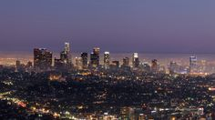 LA Skyline at dusk by Chris Meier