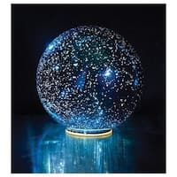 Shop for Lighted Mercury Glass Ball Sphere - Blue - Small. Get free delivery On EVERYTHING* Overstock - Your Online Home Decor Outlet Store! Get in rewards with Club O! Glow Stick Jars, Glow Sticks, Glow Jars, Starry Night Sky, Night Light, Accent Lighting, Mercury Glass, Glass Ball, My New Room