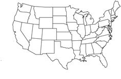 Print State Outline Map of the USA. Printable US State Outline Map. Print free blank State Outline Map of the United States of America. United States Outline, United States Map, 50 States, Map Outline, State Outline, Geography Test, Geography Lessons, Human Geography, States And Capitals