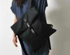 Zaino convertibile Messenger borsa tela di misirlouHandmade