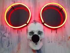 """Mickey is the most.""""Mickey Mouse Distorted"""" by Darren West. Dark Beauty, Beauty Art, The Mighty Boosh, Neon Words, Neon Design, All Of The Lights, Weird Dreams, Light Of My Life, Light Installation"""