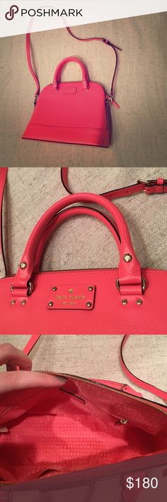 Kate Spade purse Pink leather purse. Kate Spade authentic. Never used. Short handles and long strap - can be used as a crossbody. kate spade Bags Shoulder Bags