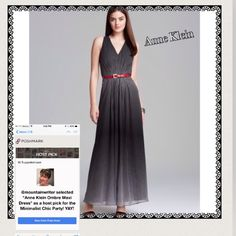 Anne Klein Ombre Maxi Dress-HST-Pick Fantastic Summer/Fall Sleeveless Maxi Dress. Color Black/Camellia 64% Ramie  25% Viscose 9% Linen2% Elastane . *Dry Clean Only. This Chiffon Anne Klein Maxi Dress Has A Front-V-Neck Bodice Is Lined. This Dress Received High Ratings On The Way it Fits, Looks, and Flows. Anne Klein Dresses Maxi