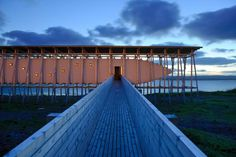 STEILNESET MINNESTED by Peter Zumthor & Louise Bourgeois. By Peter Zumthor. [Vardø]Steilneset, Varanger. Norway.