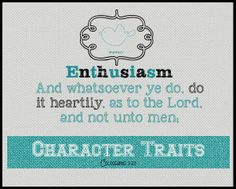 #Charactertrait #Enthusiasm