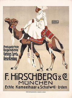 RARE Original 1900s LUDWIG HOHLWEIN Poster Hirschberg