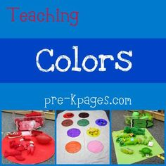 Color theme activities for pre-k, preschool and kindergarten. Fun, hands-on activities and ideas for teaching young children how to recognize colors at home or in the classroom. Preschool Color Theme, Preschool Themes, Preschool Learning, Kindergarten Classroom, Classroom Ideas, Preschool Rules, Preschool Projects, Classroom Activities, Pre K Activities