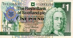 Royal Bank of Scotland One Pound Note (Front)