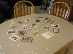 Zap the Grandma Gap: Another even easier summer project--Family History Tablecloth