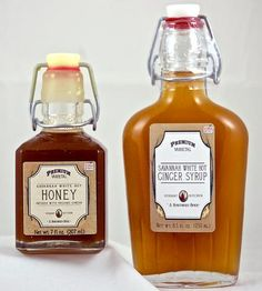 White Hot Ginger Syrup & Honey Set   Collections Pantry   Verdant Kitchen   Scoutmob Shoppe   Product Detail