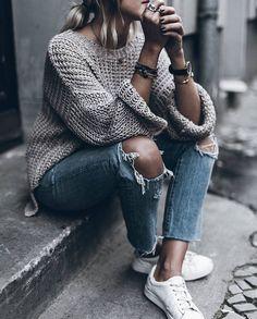 Street style fashion denim