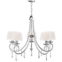 The For Living Shimmer Chrome Chandelier is an elegant, glittering addition to your home décor. Featuring a clean chrome finish, this chandelier offers Pendant Lighting, Chandelier, How To Clean Chrome, Big Box Store, Canadian Tire, Pink Walls, Lighting Store, Chrome Finish, Light Fixtures