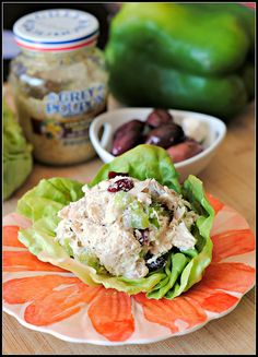 Chicken salad with greek yogurt mix on lettuce wrap is the perfect summer lunch! #healthy #yummy