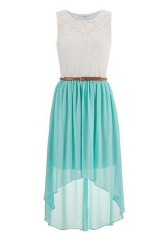 belted lace top high-low dress (original price, $44) available at #Maurices