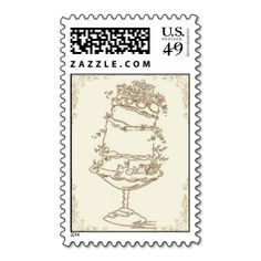 Wedding Cake_Gold by Ceci New York Postage Stamp. It is really great to make each letter a special delivery! Add a unique touch to invites or cards with your own photos or text. Just click the image to learn more!