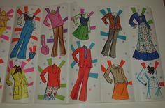 Vintage Whitman 1976 Paper Dolls Malibu Francie Uncut Complete | eBay