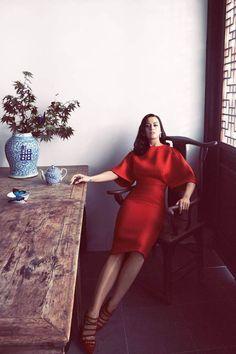 Photographer: Harper's Bazaar US October 2014 Model: Katy Perry Photographer: Camilla Akrans Fashion Editor: Julia von Boehm