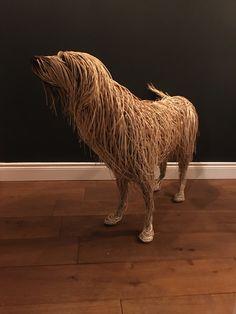 Life Size Willow Sculpture Dog Sculpture, Animal Sculptures, Wall Sculptures, Garden Sculpture, Organic Sculpture, Willow Weaving, Basket Weaving, Willow Garden, Twig Art