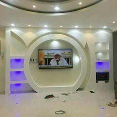 Lcd Wall Design, House Front Wall Design, Interior Ceiling Design, Pop False Ceiling Design, Living Room Partition Design, Home Stairs Design, Living Room Tv Unit Designs, Ceiling Design Living Room, Wall Shelves Design