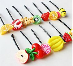 Cuhair(tm) 5pcs (Style Random) Women Girl Baby Fruit Hair Clip Barrettes Hair Pin Claw Accessories * You can find out more details at the link of the image. (This is an affiliate link and I receive a commission for the sales)