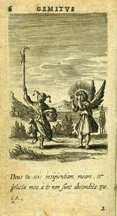 HUGO Herman - Pia Desideria - Anvers, H. Aertssenius, 1636 - gravures par Boetius Bolswaert