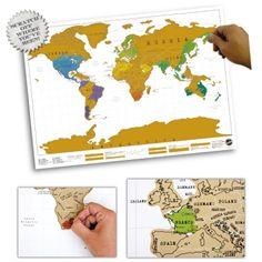 """""""Wo war ich nochmal so im Urlaub?"""" Mit dieser bunten Rubbel Weltkarte behältst Du den Überblick über vergangene und zukünftige Reiseziele :) via: www.monsterzeug.de"""