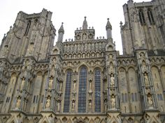 Front of Wells Cathedral, Somerset