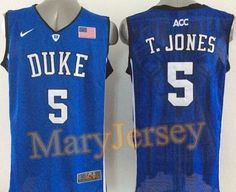 a724c99b95c Men's Duke Blue Devils T.JONES Basketball Jersey NCAA Basketball Jersey for  Men: Names and numbers are sewed on jerseys. Football jersey for football  fans.