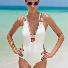c4e0e38ba102a 2017 New Sexy folk custom Women One Piece Swimsuits Sexy Female Swimwear  Halter turtleneck Bathing Suits One Piece Swimsuits-in One-Piece Suits from  Sports ...