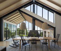 Family Homes — Huang Iboshi Architecture Beautiful Architecture, Architecture Details, Interior Architecture, Narrow House Designs, Modern Barn House, Bungalow House Design, Property Design, Loft Design, Design Design