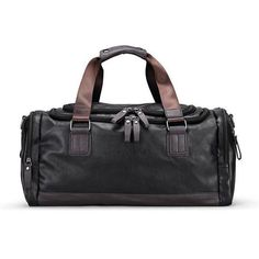 Men s PU Leather Gym Bag Sports Bags Duffel Travel Luggage Tote Handbag for Male  Fitness Men Trip Carry ON Shoulder Bags 04633d78f2