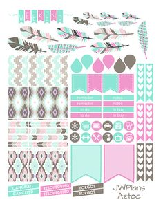 PRINTABLE Erin Condren Planner Aztec Weekly by PricklyPearDesignCo