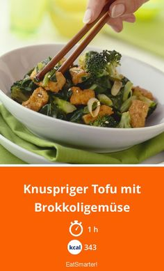The Crispy Tofu with Broccoli and Bok Choy recipe out of our category flowering vegetables! EatSmarter has over healthy & delicious recipes online. Vegetarian Recepies, Tofu Recipes, Healthy Recipes, Healthy Food, Broccoli Stir Fry, Crispy Tofu, Eat Smarter, Lunches And Dinners, Food Porn