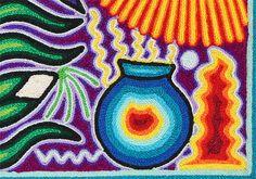 Huichol Yarn Art Collection - Huichol Yarn Painting - YP702