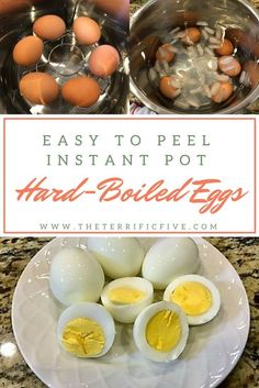 Easy to Peel Instant Pot Hard-Boiled Eggs. Tired of eggs with craters in them? Tired of spending precious time peeling an egg with shells stuck to the whites? Use these instructions to make the perfect hard-boiled eggs!