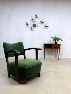 Mid century vintage design fauteuil stoel lounge stoel Art deco, vintage design armchair lounge chair Art Deco thirties loft