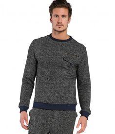 Digital Heather Crew Neck Sweatshirt - Shop All - Mens | Michael Stars
