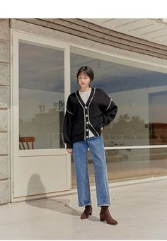 Korean Casual Outfits, Cute Casual Outfits, Korean Fashion Trends, Aesthetic Clothes, Vintage Outfits, Fashion Outfits, Wardrobes, Model, Street Style